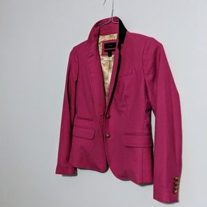 JCREW Pink Schoolboy Blazer